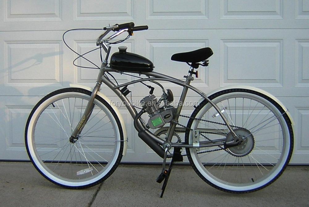 2 hub fett reifen fahrrad motor benzin gas motor bike benzin bike moto beach cruiser fahrrad. Black Bedroom Furniture Sets. Home Design Ideas