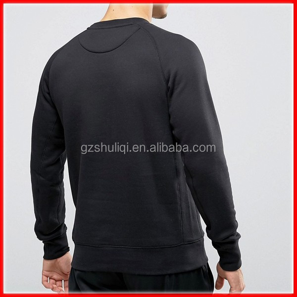 soft touch men sweatshirt blank ribbed trims hoodie crew neck hoodies and sweatshirts
