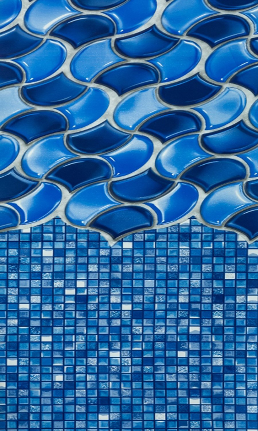 Smartline Waves of Poseidon 12-Foot-by-24-Foot Oval Liner | Overlap Style | 48-to-52-Inch Wall Height | 25 Gauge | Designed for Steel Sided Above-Ground Swimming Pools | Universal Gasket Kit Included