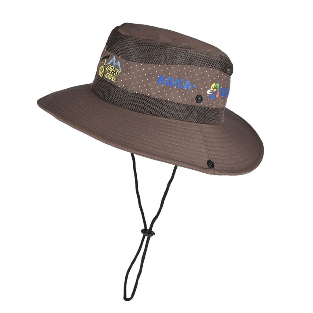 2072ac9534955 Get Quotations · Outdoor sun hat large brimmed hat UV sun hat male hat male  fisherman fishing hat mountaineering