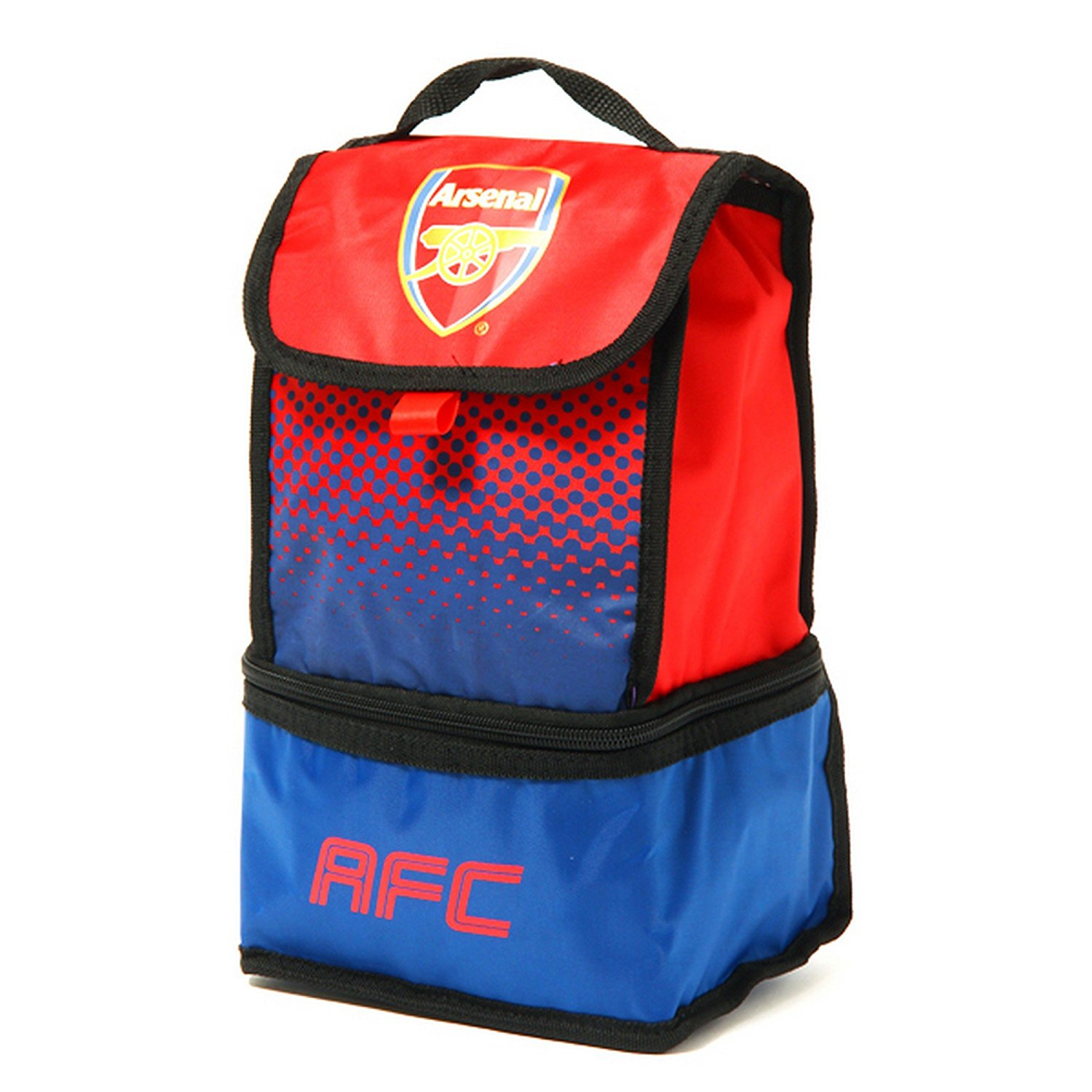 Arsenal FC Official Fade Insulated Football/Soccer Crest Lunch Bag (One Size) (Red/Blue)