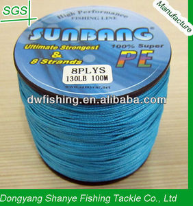 8 Strands 130LB 100M Super Strong Japan Braided Fishing Line BLUE--SUNBANG