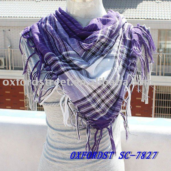 lady's fashion acrylic square scarf (SC-7827)
