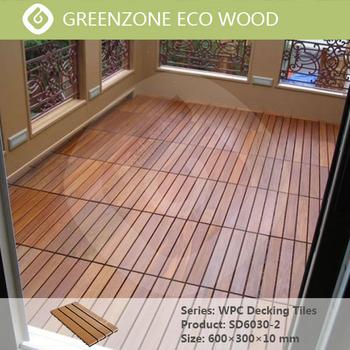 Balcony Garden Outdoor Indoor Wpc Waterproof Recycled Rubber Decking Tiles