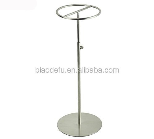 High quality Stainless Steel Hat Stand Metal Hat Display Stand Rack/ Hat dispaly Stand