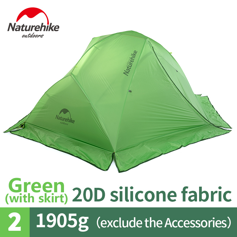 Naturehike nature hike 4 Season 2 Person Tent Super Waterproof Ultralight Camping TentDouble weatherproof aluminum pole tent