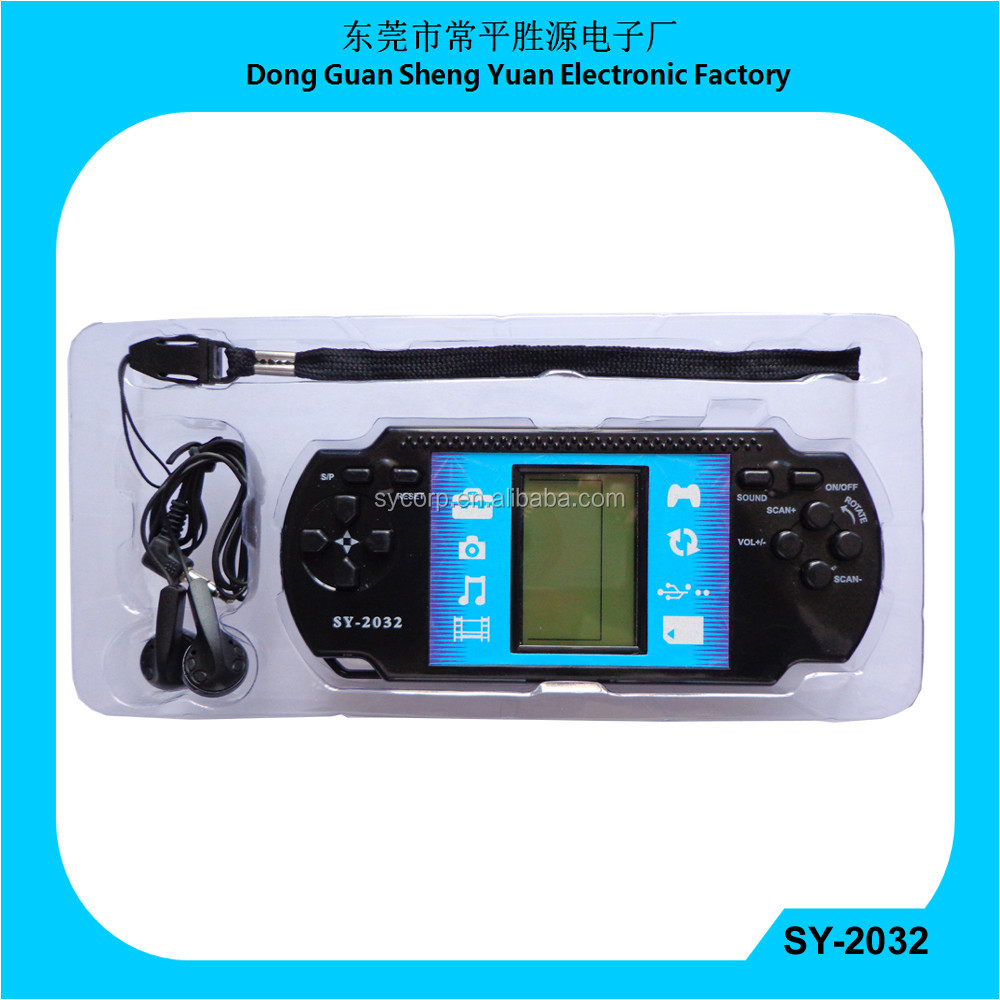 Brick Game & Fm Auto Scan Radio with jumbo display blue back light earphone  and hand