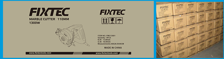 FIXTEC Machine Tool 1300W 110mm Electric Marble Mosaic Cutting Machines