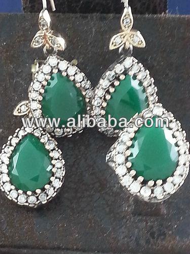 Joyeria de plata turca gran bazar de estambul anillos joyería conjuntos pendientes bisuteria al por mayor