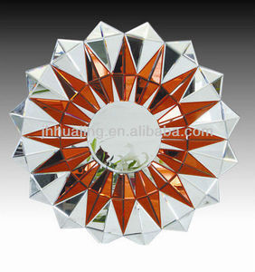 Modern Starlike color mixed 3D Multi-faceted Wall Mirror good design, cheap price