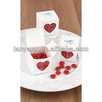 heart shaped empty gift see through candy paper boxes