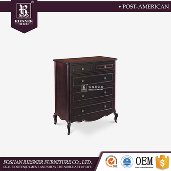 Wooden modern elegant storage cabinet 4 drawer chest