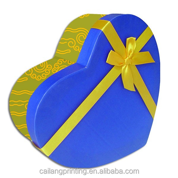Wholesale Jewellery boxes heart shaped box Paper wrapping for sugar paper box with window