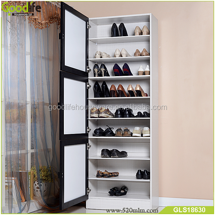 180cm Tall Shoe Cabinet Wooden Shoe Rack For Variety Size
