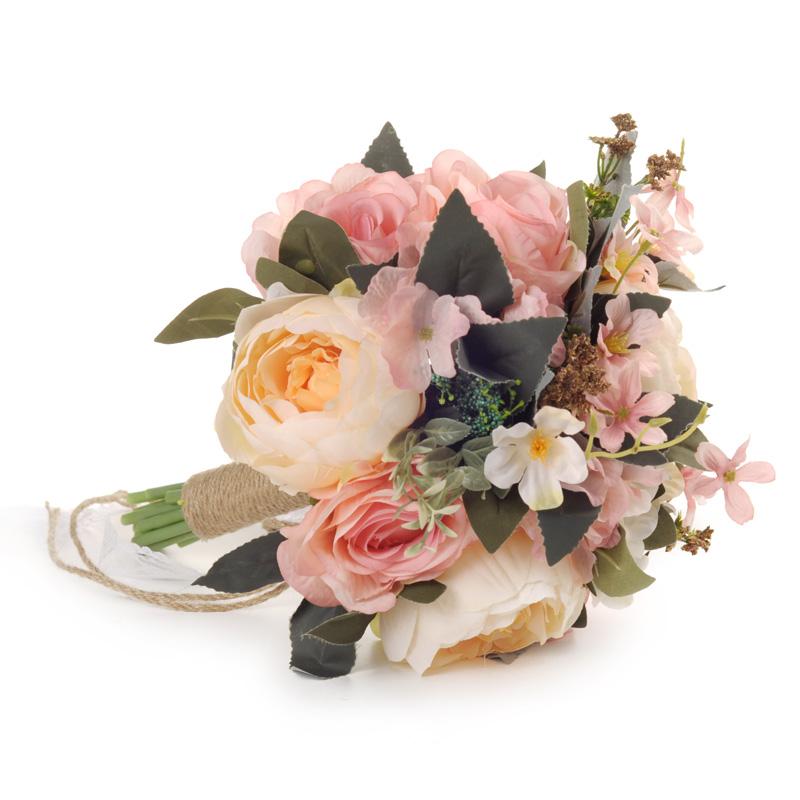 Hot Sale Handmade Vintage Flower Wedding Bridal Bouquet Artificial Flower Bouquet Buy Bouquet Handmade Flower Bouquet Artificial Flower Bouquet Product On Alibaba Com
