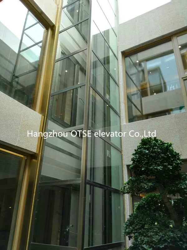Superior House Used Glass Single One Person Lift Elevator