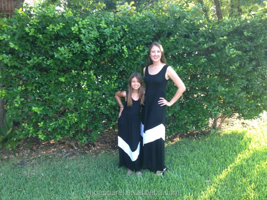 f7b9b7b34528a4 2015 mode-mama en mij chevron jurk zomer maxi jurk moeder dochter outfits