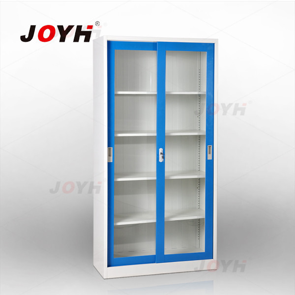 Steel Office Furniture Glass Sliding Door Bookcase File Cabinet /metal  Bookshelf Parts