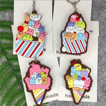Japanese Cute cartoon  PVC soft rubber keychains