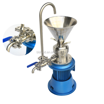 Single Power SS 304 316L Small Colloid Mill for lab