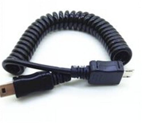 5ft 1.5m Usb Mini B 5 Pin Male To Micro 5pin Male Coiled Wire Spiral ...