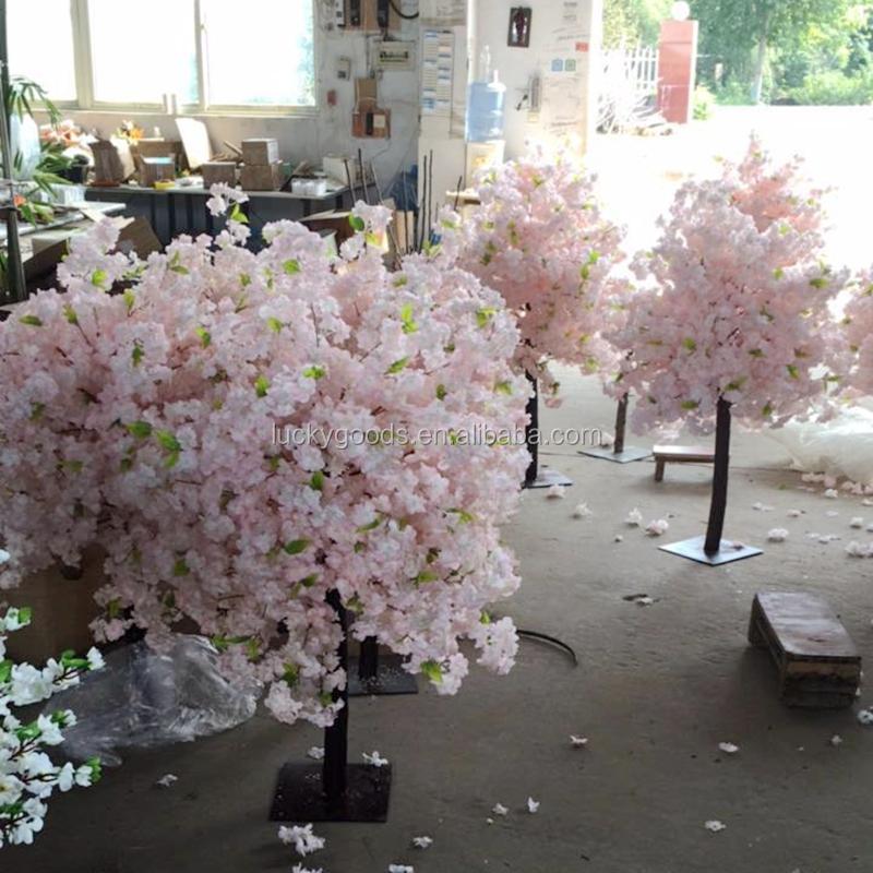 Bare ut PJ513 Fasjonable Lysrosa Kirsebær Blomstrende Tree Kunstig Tre For FR-37