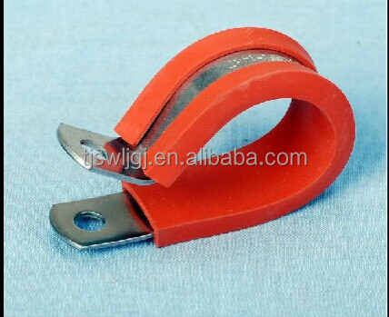 Tianjin winlong manufacturers production of the red/black rubber strip type clamp