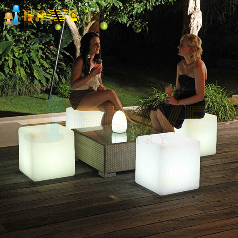 outdoor plastic cube seating foam