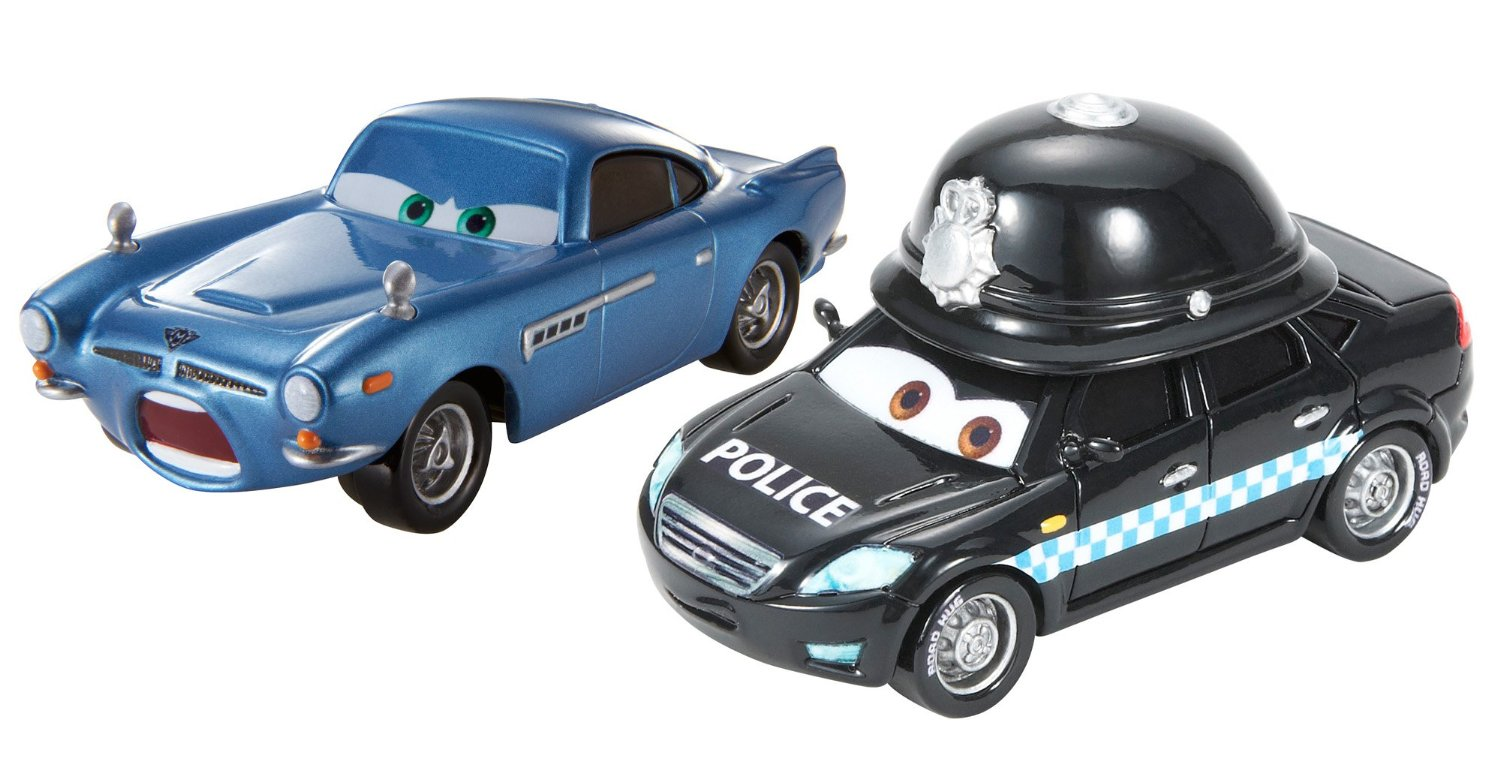 Disney/Pixar Cars, Palace Chaos Die-Cast, Doug Speedcheck and Palace Danger Finn McMissile #8,9/9, 1:55 Scale