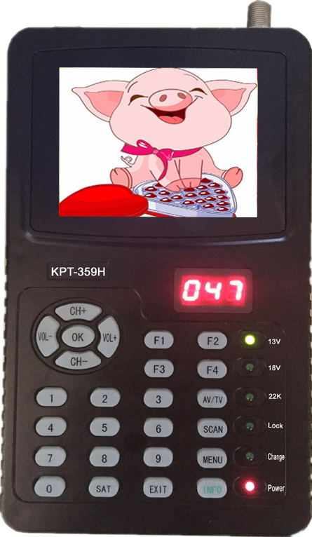 2017 most popular Digital Satellite finder KPT-359H support DVB-S/S2 HD Satellite finder meter