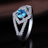 New Fasion Jewel Design Girls Wholesale Price Silver Ring