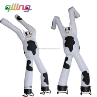 Outdoor top quanlity advertising desktop mini two legs inflatable waving sky air dancer blower for hot sale