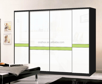 Built In Aluminium Profile Closet Glass Sliding Wardrobe Door