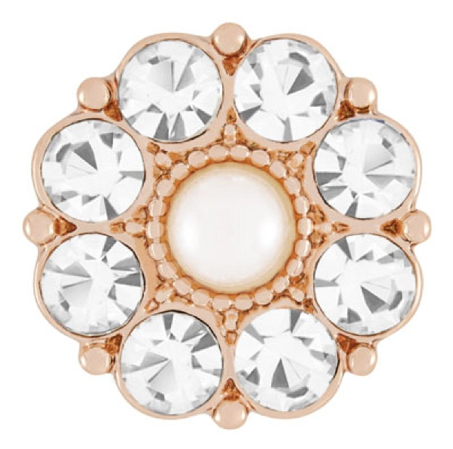 Ginger Snaps ROSE (Simulated) GOLD ARIA SN09-90 (Standard Size) Interchangeable Jewelry Accessories