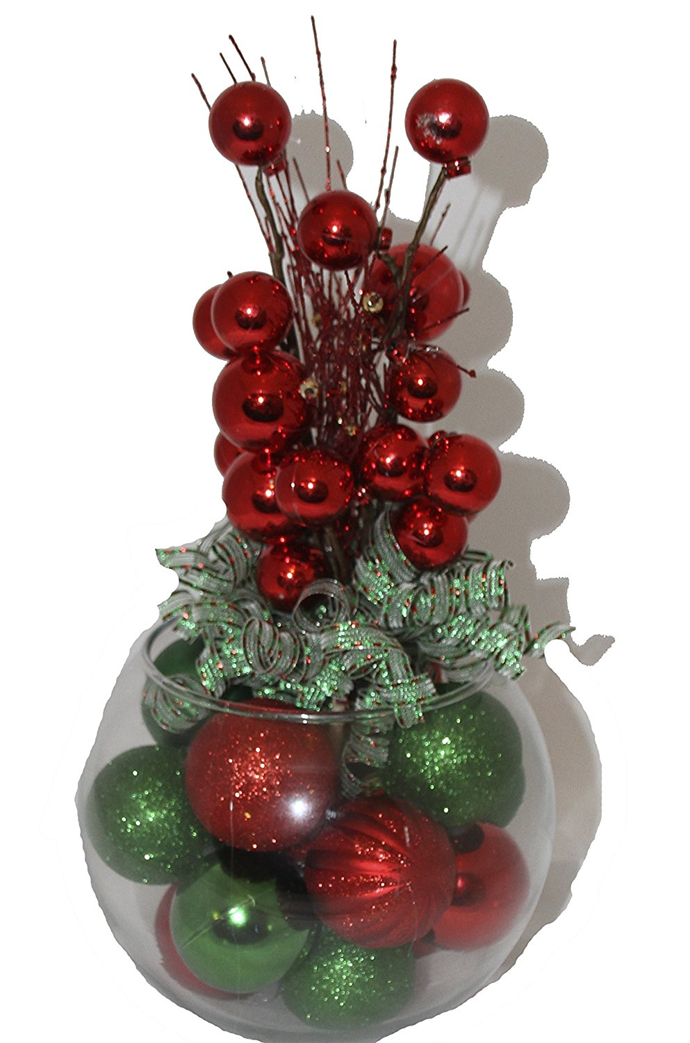 cheap christmas centerpieces sale deals 528586 results christmas table arrangement centerpieces by glitterglassandsass red green classic - Where To Buy Cheap Christmas Decorations