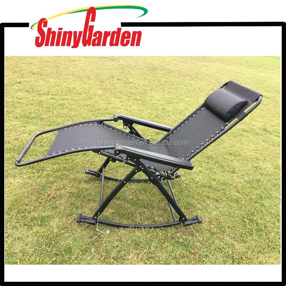 Bliss Zero Gravity Chair Bliss Patio Opvouwbare Zero Gravity Schommelstoel Rocker ...