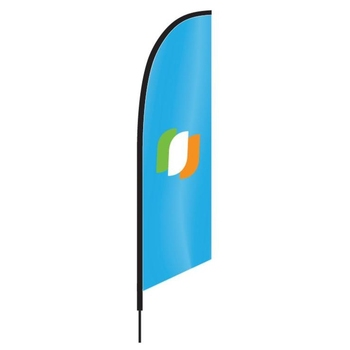 Wholesale custom polyester advertising beach feather flag