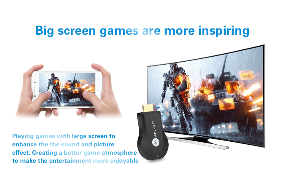 Affichage sans fil HDMI TV Dongle 1080P Dongle Miracast Compatible avec iOS iPhone iPad/Mac
