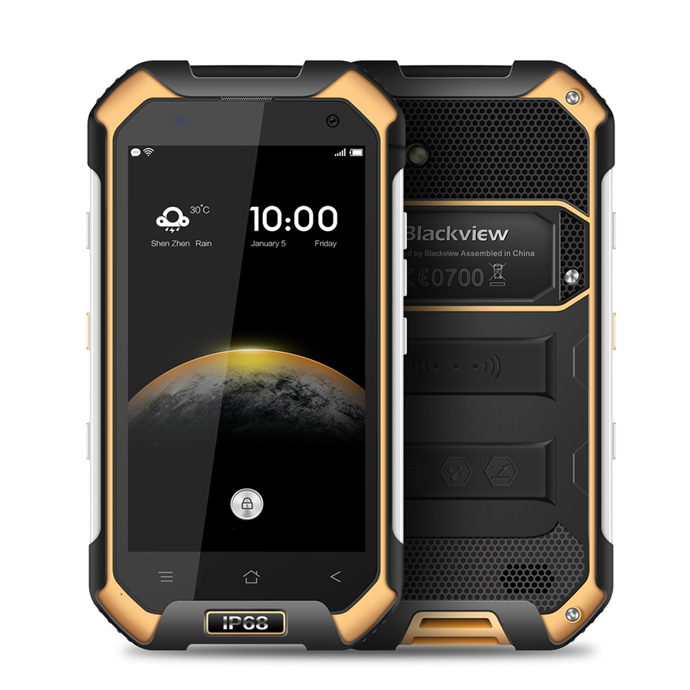"Blackview BV6000 4.7""IP68 Waterproof Shockproof Scratch-proof Rugged <strong>Phone</strong> MT6755 Octa Core <strong>Android</strong> 6.0 3G/ 32G 13.0MP NFC"