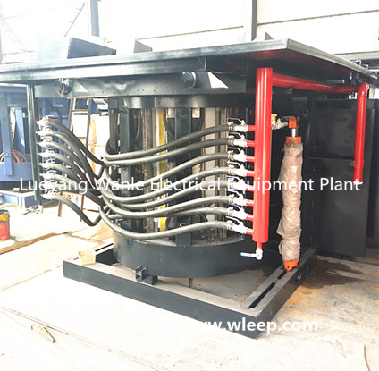2T Steel Shell IF Induction Copper Melting Furnace