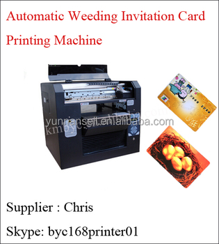 Automatic Wedding Invitation Card Printing Machine Pvc Card