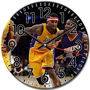 Arabic Numbers Phoenix Suns Reliable Silent Hd Round Wall Clock Frameless 10 Inch / 25 cm Diameter