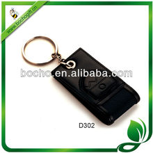 leather keychain for business gift
