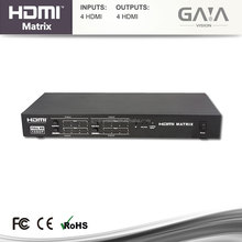 HDMI 4x4 HDMI Matrix interruptor video Splitter con audio y <span class=keywords><strong>RS232</strong></span> 3D EDID