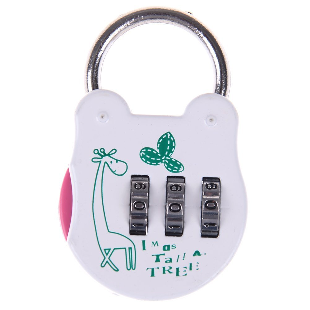 158b331ca8 Get Quotations · Yiphates 3 Digit Combination Padlock with Cartoon Pattern  Mini Security Lock for Bag
