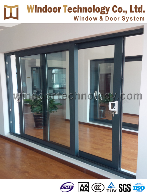 Large Size High Quality Aluminum Sliding Glass Door With Safety