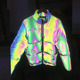 rainbow waterproof high light retro-reflective fabric for clothing