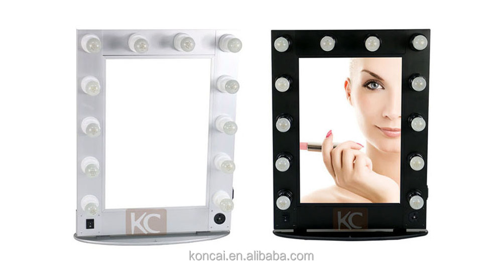 Beautiful LED lighted hollywood vanity makeup mirror with aluminum frame