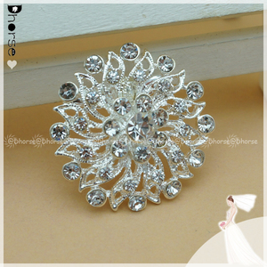 Wholesale cheap brooches in bulk wedding silver rhinestone pins brooches