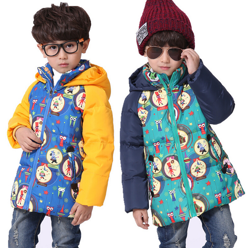 Suitable Russian winter children jacket coat thick parkas boys 90 white duck down outerwear boy down